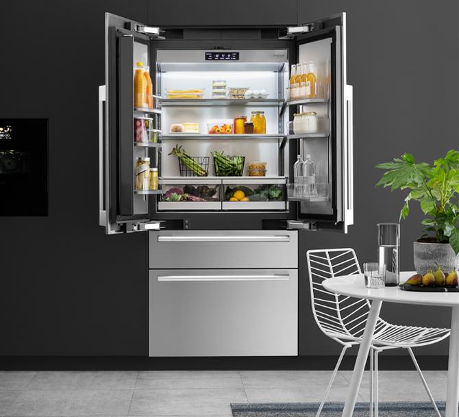 Estremamente flessibile e capiente, French Door SKS il frigorifero ideale per le famiglie.