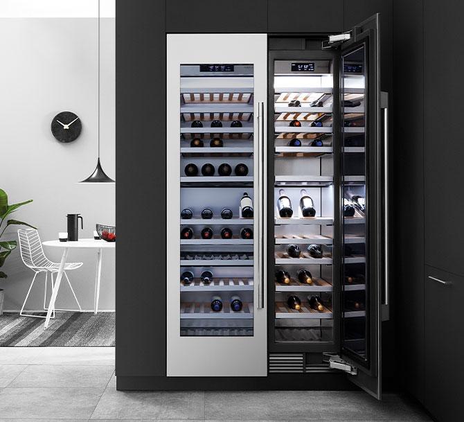 Il Vino cantina a colonna Signature Kitchen Suite conserva in maniera ottimale il vino