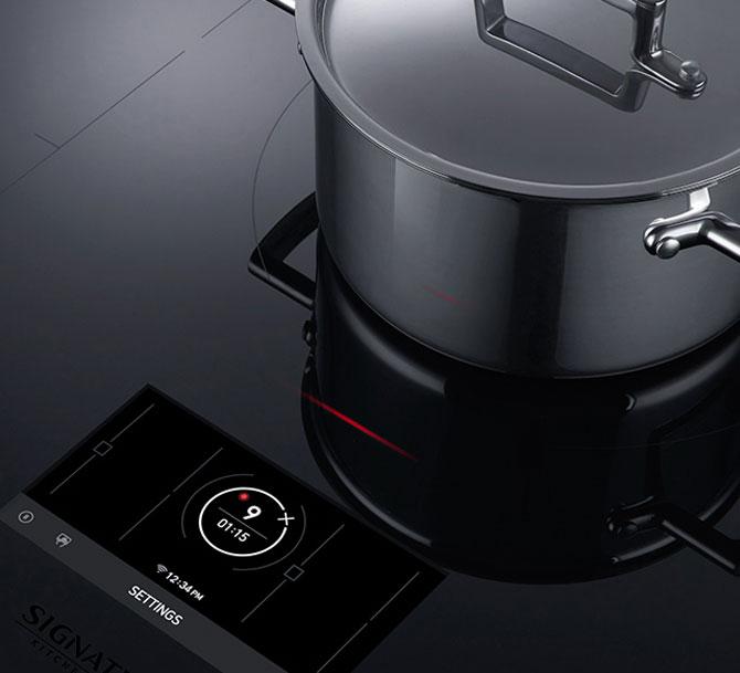 Signature Kitchen Suite: Il piano cottura a induzione Flex induction con 17 livelli di potenza