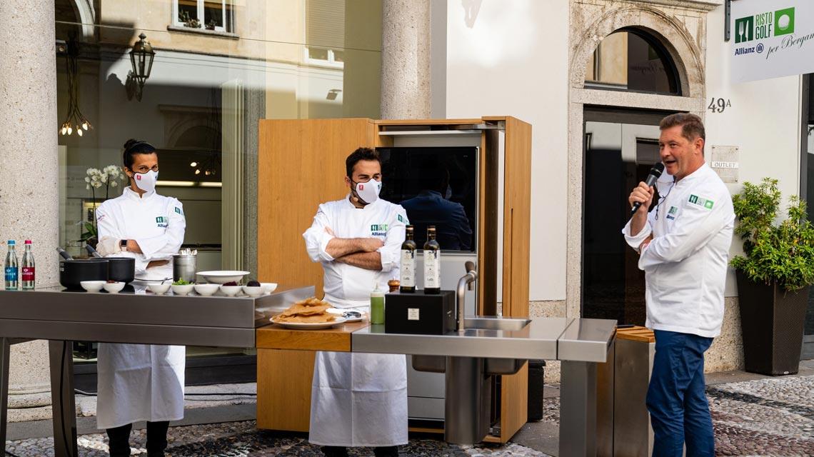 Signature Kitchen Suite ha aderito con entusiasmo all'iniziativa Ristogolf by Allianz per Bergamo