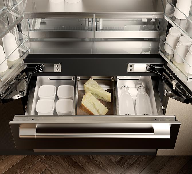 Cassetto del frigorifero french door di Signature Kitchen Suite