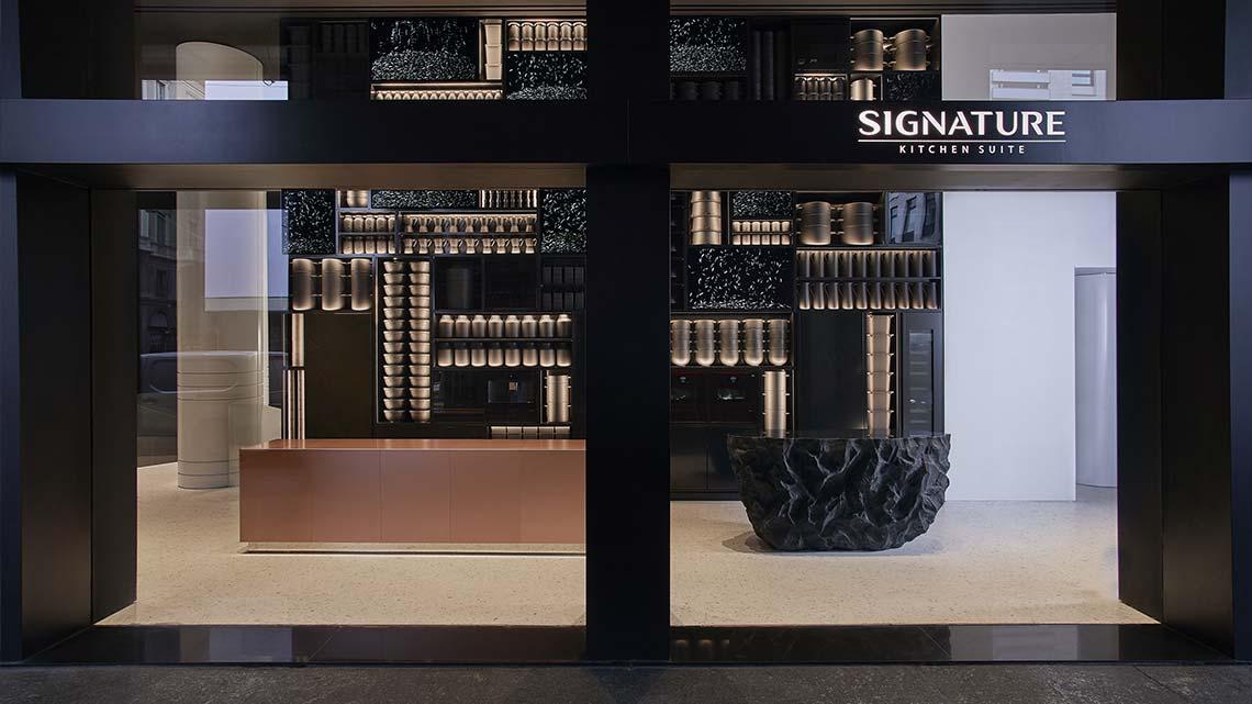 il primo showroom in Europa Signature Kitchen Suite